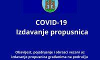 Obavijest, pojašnjenje i obrasci vezani uz izdavanje propusnica građanima (2)